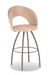 Trica Biscotti Swivel Stool with Metal Legs and Upholstered Seat and Back