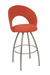 Trica Biscotti Swivel Stool with Red Upholstered Fabric