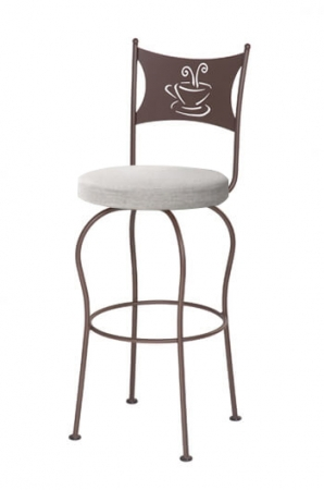 Trica's Cafe Swivel Bar Stool with Comfort Seaet