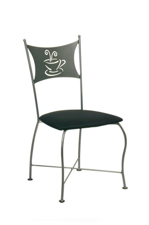 Trica Cafe Dining Chair with Coffee or Tea Cup on Back