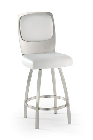 Trica Calvin Swivel Stool with Brushed Steel