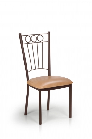 Trica's Charles Brown Dining Chair with Tall Backrest