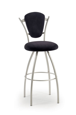 Trica Clip Swivel Stool with Oval Upholstered Back