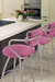 Trica Cookie Swivel Stool in Pink Fabric for Modern Kitchens
