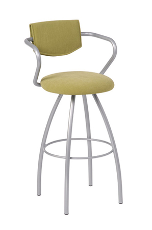 Trica Cookie Swivel Stool with Half Upholstered Back