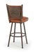 Trica Creation Collection Swivel Stool with Bear Design on Back