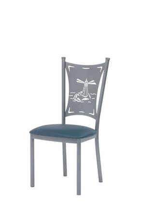 Trica Creation Collection Dining Chair with Laser-Cut Back Design