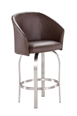 Gelato Swivel Stool • Shown in Brushed Steel (metal)