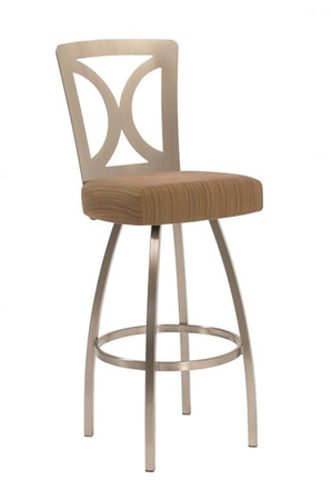 Trica Grace Swivel Stool with Thick Seat Cushion