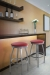 Trica's Henry Backless Silver Swivel Barstools in Home Bar