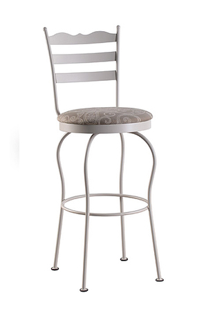 Trica Latte Swivel Stool with Ladder Style Back