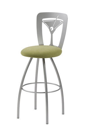 Trica Martini Swivel Stool with Martini Glass on Back