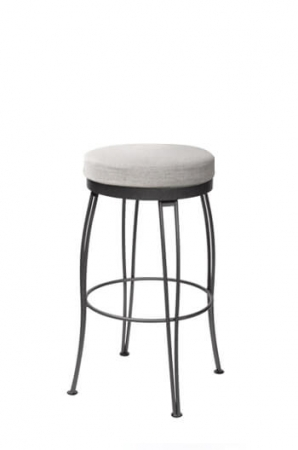 Trica's Pat Swivel Backless Stool with Comfort Seat