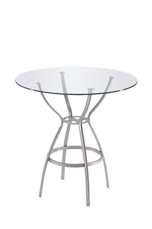 Trica Rome Table with Round Glass