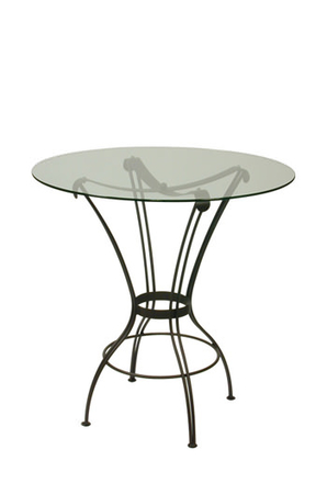 Trica Transit Table with Round Glass