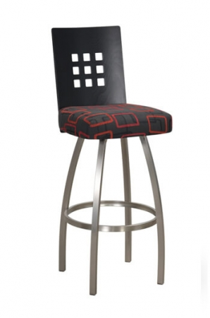Trica's Tristan Swivel Stool with Gallery-Back Design