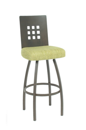 Trica Tristan Swivel Stool with 9 Square Holes on Back