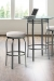 Trica's Truffle Swivel Backless Bar Stool with Round, Thick Seat Cushion and 4-Metal Legs