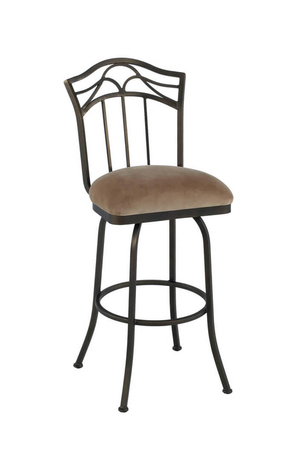 Callee Berkeley Swivel Bar Stool with Tall Back and Wide Seat