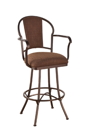 Callee Charleston Swivel Stool with Padded Back and Arms