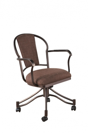 Callee Charleston Tilt Swivel Dining Chair with Padded Back and Seat