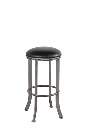 Callee's Chrysler Backless Swivel Bar Stool with Round Seat, Narrow Width, and Metal Frame