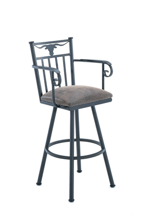 Callee Longhorn Swivel Stool for Ranch Style Kitchens