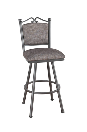 Callee Sonoma Swivel Stool with Padded Seat and Padded Back