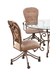Callee Valencia Tilt Swivel Dining Chair with Swirl Back Design