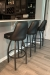 Holland's 840 Grizzly Transitional Swivel Bar Stools in Modern Kitchen