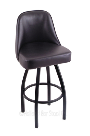 Holland Grizzly Swivel Stool with fully Upholstered Back and Seat