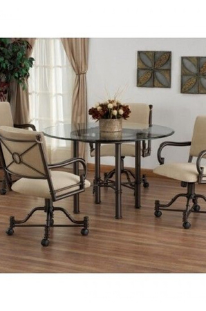 Callee Burnet Round Dining Table with Glass Top