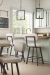 Amisco's Brixton Swivel Counter Stools in Kitchen