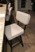Amisco's Brixton Swivel Modern Bar Stool with Back in Black Metal Finish in Modern Kitchen