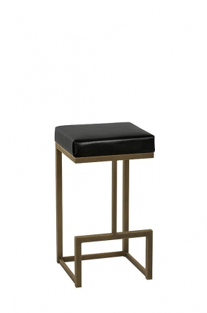 Wesley Allen's Hugo Modern Backless Stool with Square Sled Legs