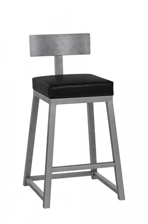 Buy Pismo Modern Iron Counter Or Bar Stool W Angular Base