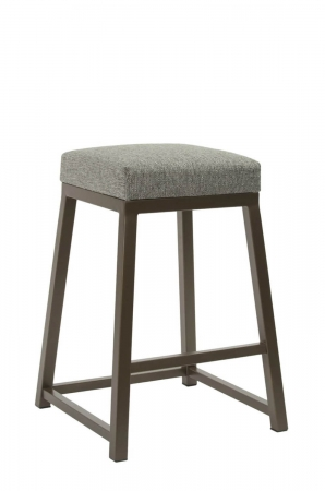 Wesley Allen's Riverton Backless Modern Brown Bar Stool