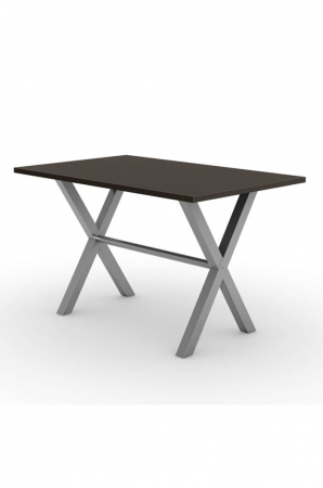 Alex Rectangle Dining Table with Dark Wood Top