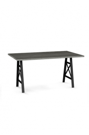 Flagstaff Rectangular Dining Table with Sawhorse–Style Legs