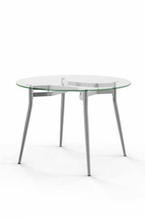 Alys Round Dining Table with Glass Top