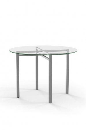 Amisco Carrefour Round Dining Table with Glass Top