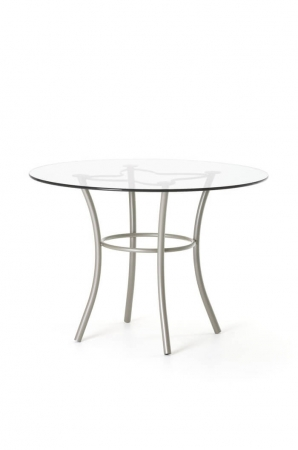 Amisco Lotus Round Dining Table with Glass Top