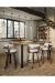 Amisco Russell Swivel Stool in Industrial Modern Kitchen