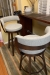 Amisco's Russell High-End Luxury Swivel Upholstered Bar Stools with Low Back