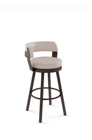 Amisco Russell Swivel Stool with Short Back