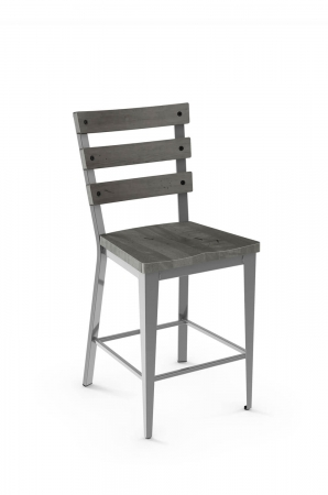 Metal Finish: 24 Magnetite • Back and Seat Wood Finish: 89 Stone Dust