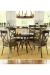 Amisco Kai Round Dining Table in Kitchen with Dining Chairs