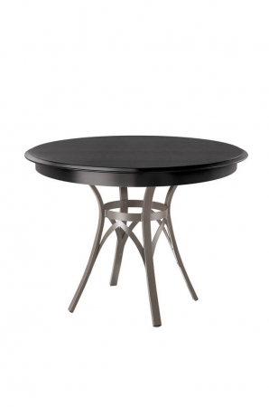 Amisco Kai Round Dining Table with Wood Top