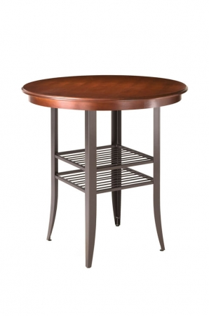 Amisco Andy Pub Table with Wood Top