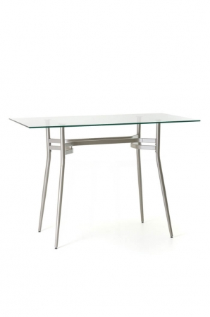 Amisco Anais Rectangle Pub Table with Glass Top